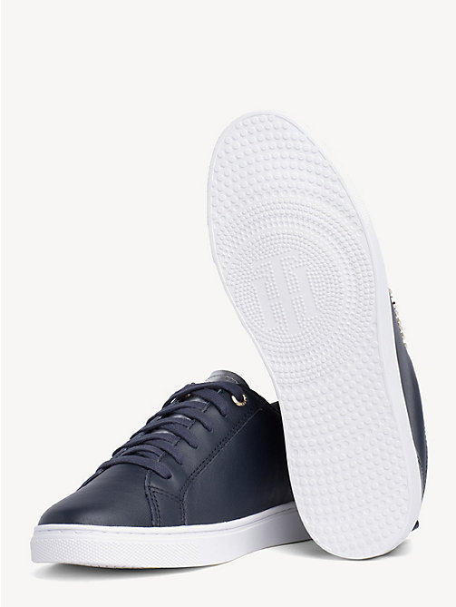 TOMMY HILFIGER Metallic Detail City Trainers - MIDNIGHT - TOMMY HILFIGER Shoes & Accessories - detail image 1
