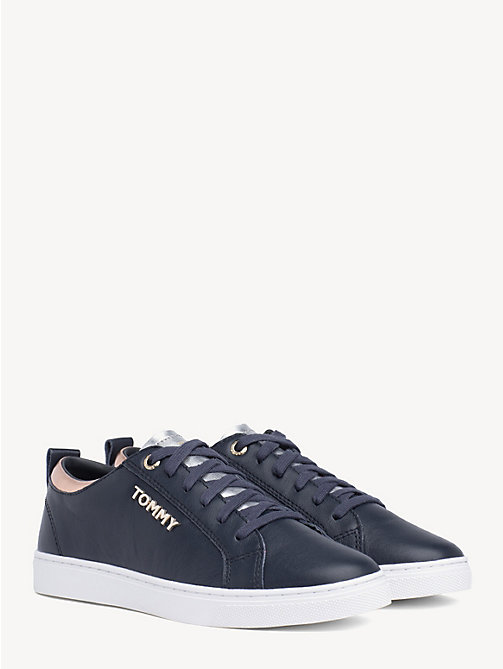 TOMMY HILFIGER Metallic Detail City Trainers - MIDNIGHT - TOMMY HILFIGER Shoes & Accessories - main image