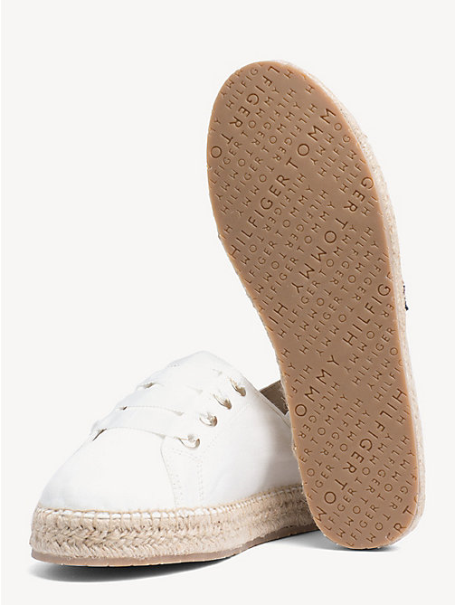 aeaf9335e7c8a6 TOMMY HILFIGERSignature Lace-Up Espadrilles. £70.00. WHISPER WHITE. x