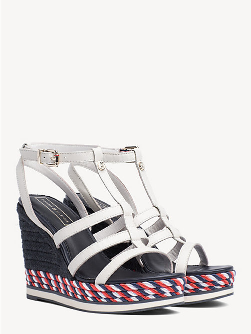 67bb2d52 white strappy rope wedge sandals for women tommy hilfiger