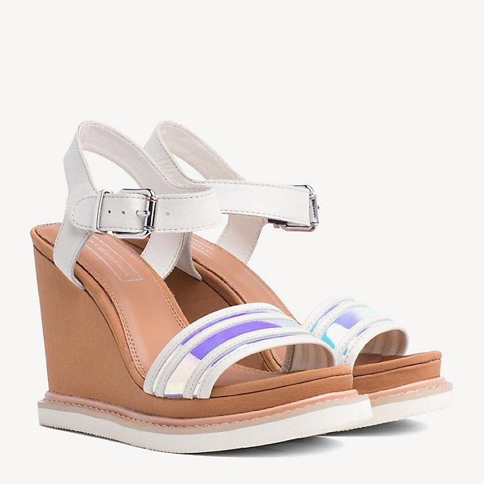 8cea14075087 Iridescent Strap Wedge Sandals