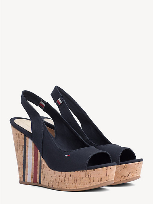 874be87330aaa TOMMY HILFIGERSignature Slingback Wedge Sandals. €89.90. NEW