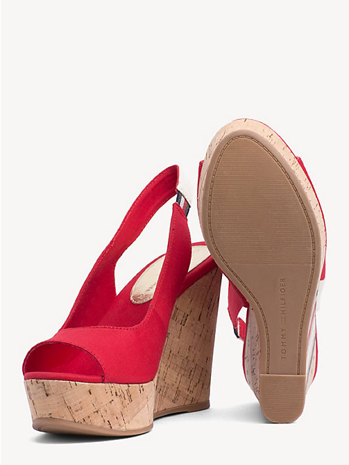 d099d5468286 TOMMY HILFIGERSignature Slingback Wedge Sandals. €95.00