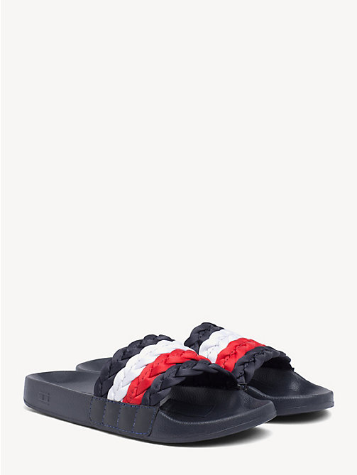 f02d67a980338c TOMMY HILFIGERSignature Braid Pool Sliders
