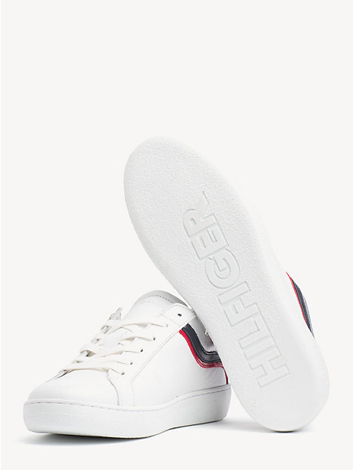 TOMMY HILFIGER Iconic lage sneaker met colour-blocking - WHITE - TOMMY HILFIGER NIEUW - detail image 1