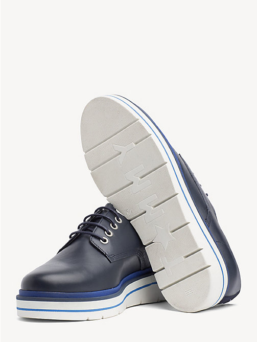 TOMMY HILFIGER Platform Sole Lace-Up Shoes - TOMMY NAVY - TOMMY HILFIGER Flat Shoes - detail image 1