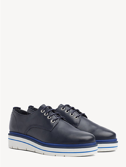 TOMMY HILFIGER Platform Sole Lace-Up Shoes - TOMMY NAVY - TOMMY HILFIGER Flat Shoes - main image