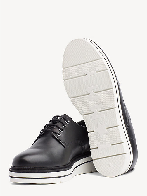 TOMMY HILFIGER Platform Sole Lace-Up Shoes - BLACK - TOMMY HILFIGER Flat Shoes - detail image 1