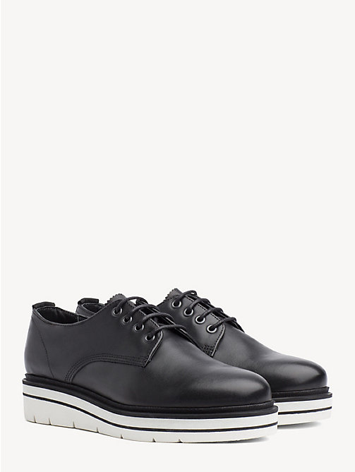 TOMMY HILFIGER Platform Sole Lace-Up Shoes - BLACK - TOMMY HILFIGER Flat Shoes - main image