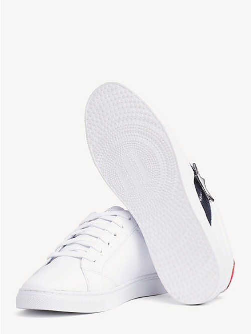 TOMMY HILFIGER Star Badge Low-Top Trainers - WHITE - TOMMY HILFIGER Sustainable Evolution - detail image 1