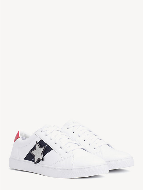 TOMMY HILFIGER Star Badge Low-Top Trainers - WHITE - TOMMY HILFIGER Sustainable Evolution - main image