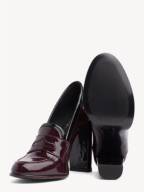 TOMMY HILFIGER Iconic Patent Leather High Heel Loafers - DECADENT CHOCOLATE - TOMMY HILFIGER Pumps - detail image 1