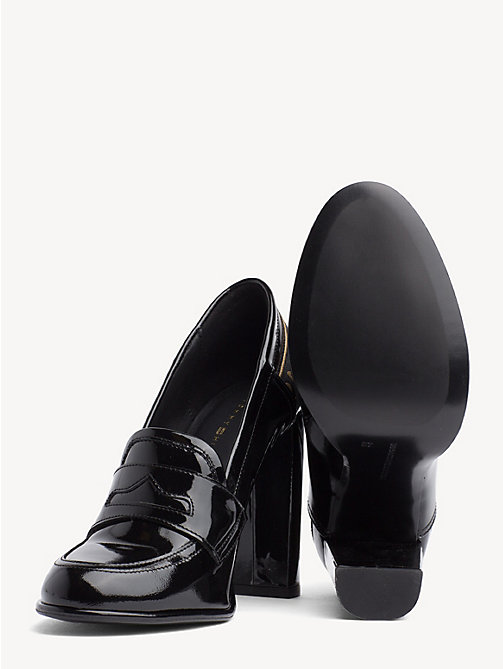 TOMMY HILFIGER Iconic Patent Leather High Heel Loafers - BLACK - TOMMY HILFIGER Pumps - detail image 1
