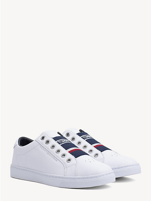 da7c25be813066 TOMMY HILFIGERLeather Logo Trainers