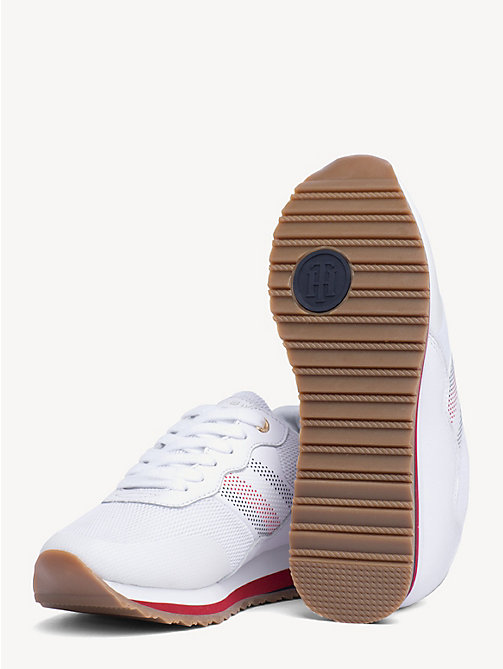 TOMMY HILFIGER Signature Tape Retro Trainers - WHITE - TOMMY HILFIGER Shoes & Accessories - detail image 1