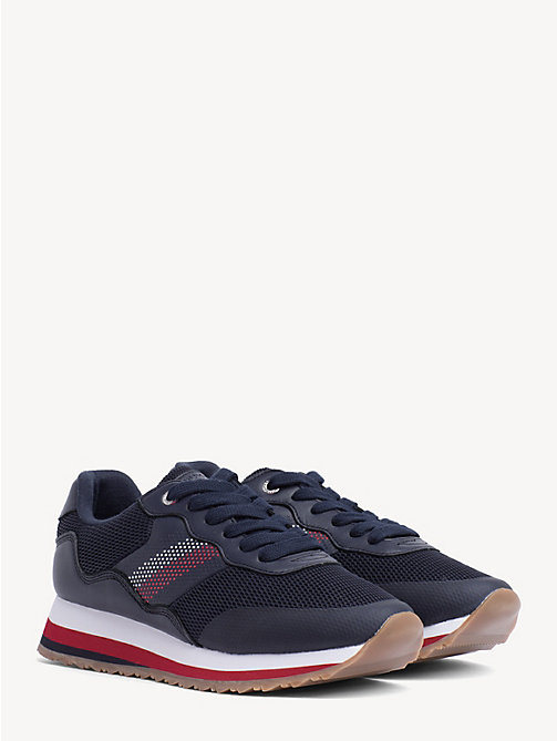 TOMMY HILFIGER Signature Tape Retro Trainers - TOMMY NAVY - TOMMY HILFIGER Trainers - main image