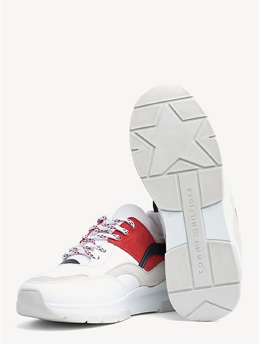 044dbb4eb4279 TOMMY HILFIGERLeather Colour-Blocked Trainers. £115.00