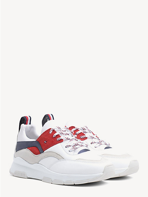 3d417ac5e25b7 TOMMY HILFIGERLeather Colour-Blocked Trainers