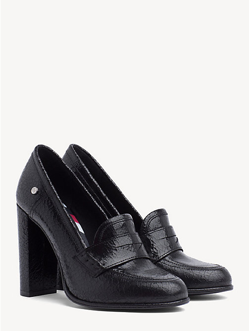 TOMMY HILFIGER Metallic pump met blokhak - BLACK - TOMMY HILFIGER Pumps - main image