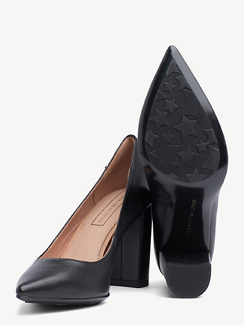 TOMMY HILFIGER Leather Block Heels - BLACK - TOMMY HILFIGER Pumps - detail image 1