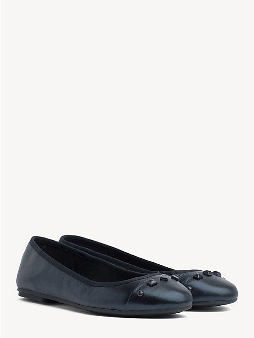 TOMMY HILFIGER Studded Ballerina Pump - MIDNIGHT - TOMMY HILFIGER Ballerina Shoes - main image