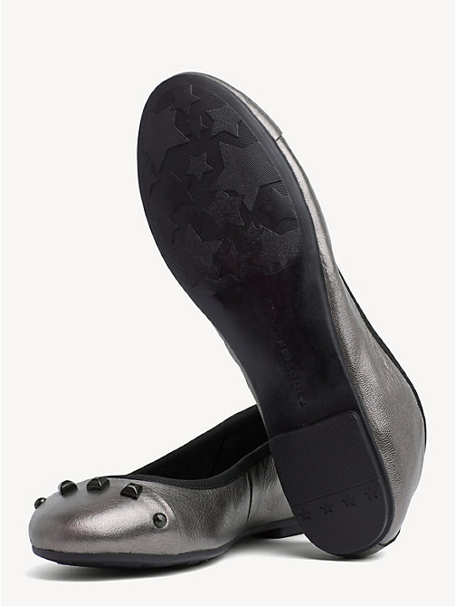 TOMMY HILFIGER Studded Ballerina Pump - BLACK - TOMMY HILFIGER Ballerina Shoes - detail image 1