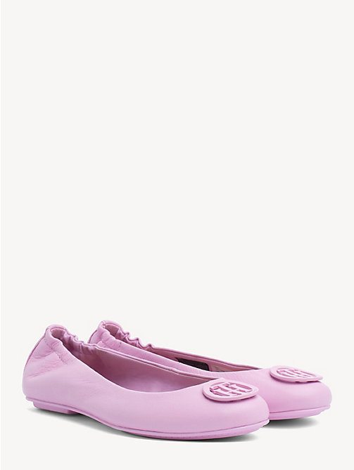 TOMMY HILFIGER Leather Ballerina Pumps - PINK LAVENDER - TOMMY HILFIGER Ballerina Shoes - main image