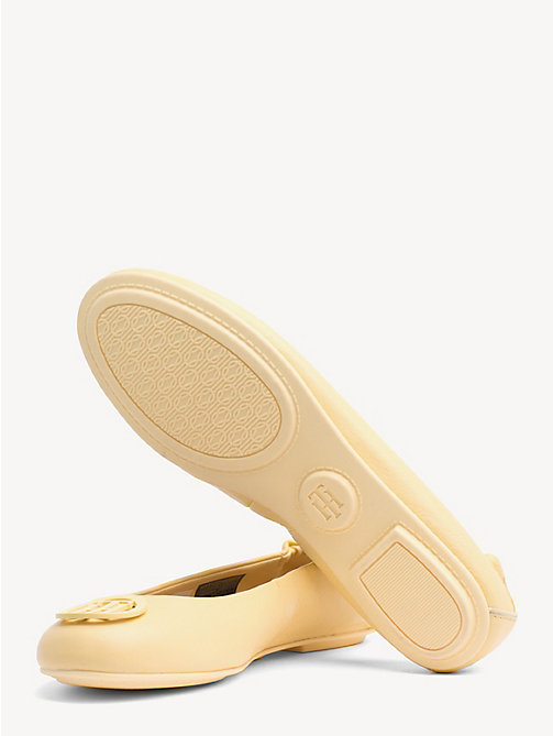 TOMMY HILFIGER Leather Ballerina Pumps - GOLDEN HAZE - TOMMY HILFIGER Ballerina Shoes - detail image 1