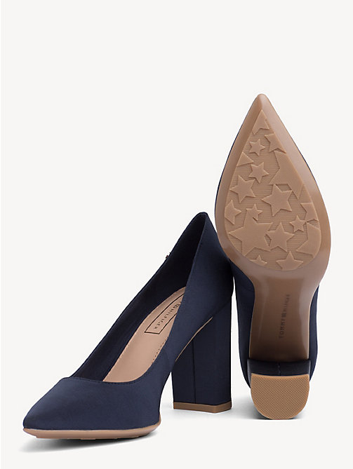 TOMMY HILFIGER Cotton High Heel Pumps - TOMMY NAVY - TOMMY HILFIGER Pumps - detail image 1