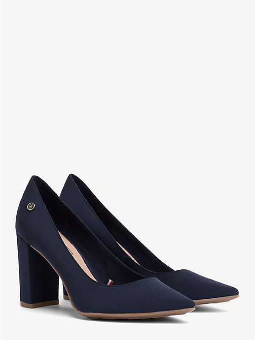 TOMMY HILFIGER Cotton High Heel Pumps - TOMMY NAVY - TOMMY HILFIGER Pumps - main image