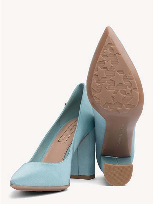 TOMMY HILFIGER Cotton High Heel Pumps - AQUA HAZE - TOMMY HILFIGER Pumps - detail image 1