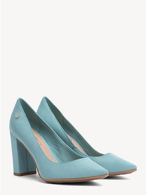 TOMMY HILFIGER Cotton High Heel Pumps - AQUA HAZE - TOMMY HILFIGER Pumps - main image