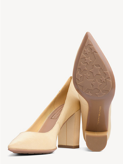 TOMMY HILFIGER Cotton High Heel Pumps - GOLDEN HAZE - TOMMY HILFIGER Pumps - detail image 1