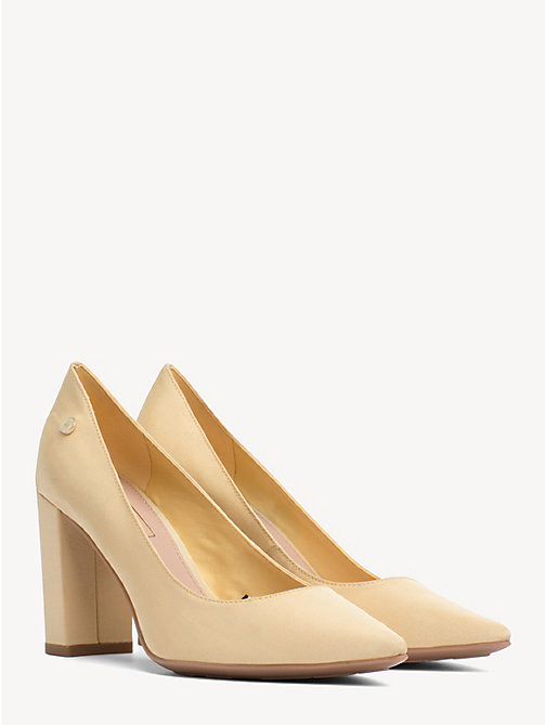TOMMY HILFIGER Cotton High Heel Pumps - GOLDEN HAZE - TOMMY HILFIGER Pumps - main image