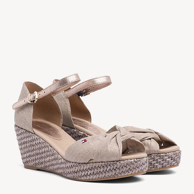 a651f198756 Metallic Canvas Sandals