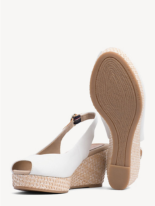 TOMMY HILFIGER Slingback Wedge Heel Sandals - WHISPER WHITE - TOMMY HILFIGER Wedges - detail image 1