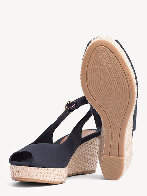 TOMMY HILFIGER Slingback Wedge Heel Sandals - MIDNIGHT - TOMMY HILFIGER Wedges - detail image 1