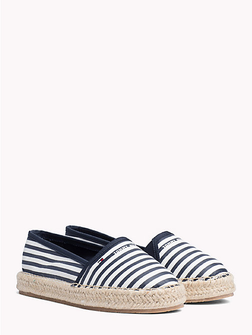 TOMMY HILFIGER Flat Stripe Print Espadrilles - SKY CAPTAIN - TOMMY HILFIGER NEW IN - main image
