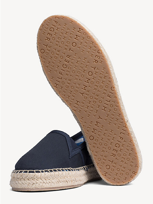 TOMMY HILFIGER Flat Cotton Espadrilles - MIDNIGHT - TOMMY HILFIGER NEW IN - detail image 1