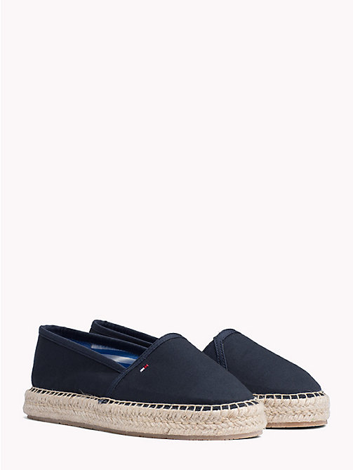 TOMMY HILFIGER Flat Cotton Espadrilles - MIDNIGHT - TOMMY HILFIGER NEW IN - main image