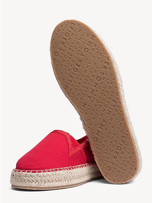 TOMMY HILFIGER Flat Cotton Espadrilles - TANGO RED - TOMMY HILFIGER NEW IN - detail image 1