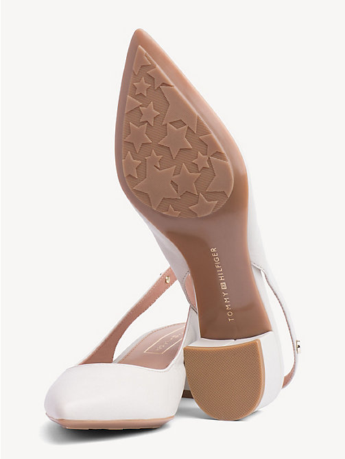 TOMMY HILFIGER Leather Block Heel Pumps - WHISPER WHITE - TOMMY HILFIGER Pumps - detail image 1