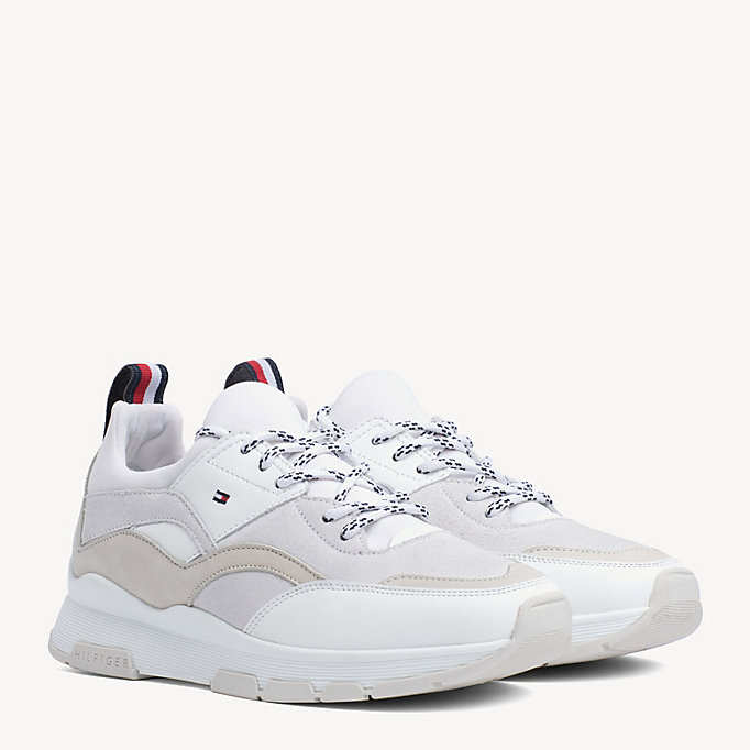 aa05d3a21 Shoptagr | Mix Panel Trainers by Tommy Hilfiger