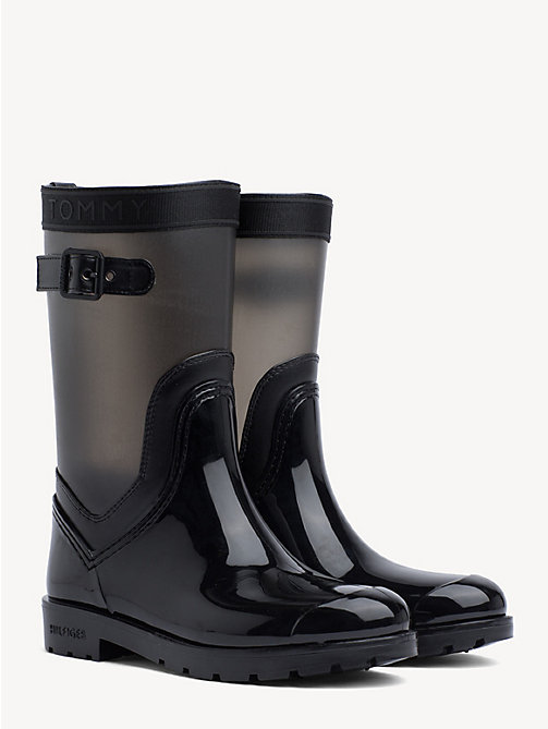 f21d8e70caa botas de agua translúcidas black de mujer tommy hilfiger