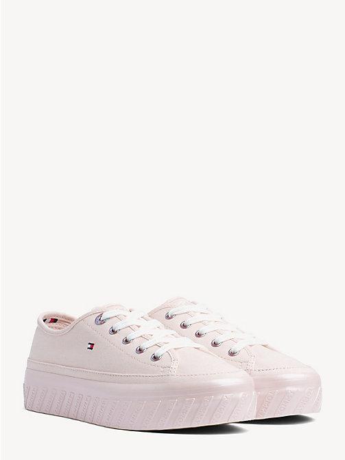 b5af3307d957c6 pink flatform cotton upper trainers for women tommy hilfiger