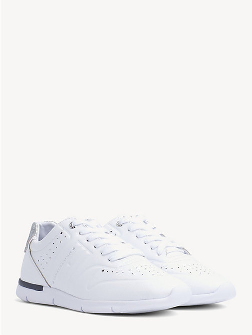 ad462bd5 TOMMY HILFIGERLightweight Glitter Peforated Trainers. £85.00