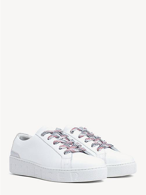 9cd956a0e933 sneakers con inserto in glitter white da donna tommy hilfiger
