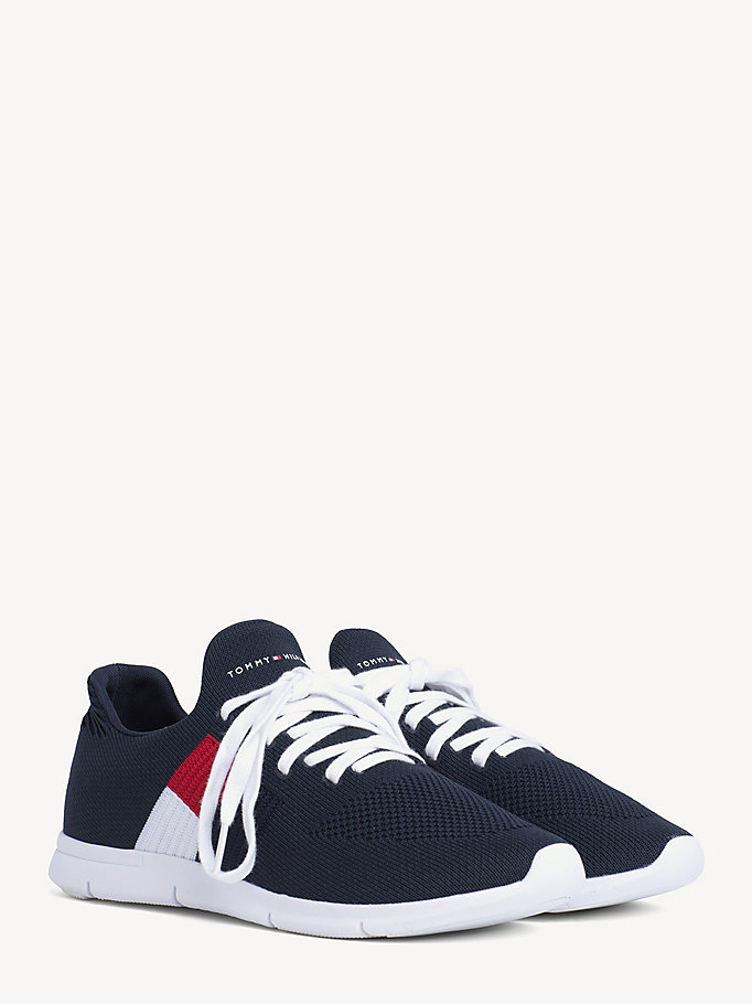 c4ef17282 Lightweight Flag Detail Knit Trainers | Tommy Hilfiger