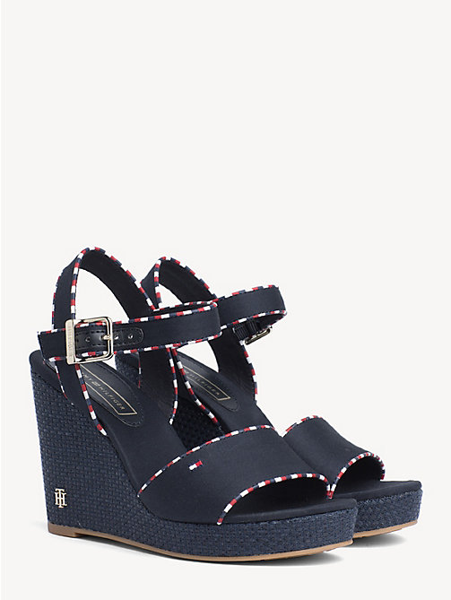 a51e0f77b940 TOMMY HILFIGERSignature Tape High Heel Wedges