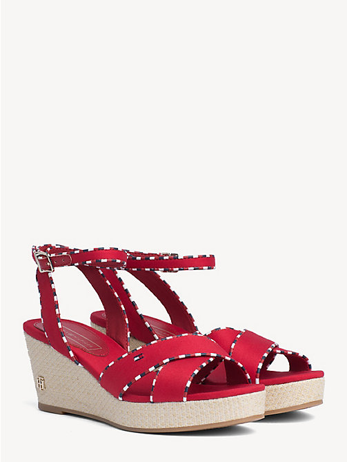 feaae821559b TOMMY HILFIGERSignature Tape Mid-Heel Wedges